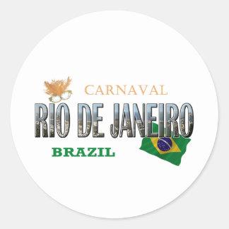 Río de Janeiro el Brasil Pegatina Redonda