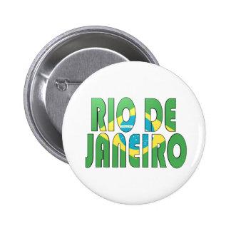 Río de Janeiro, el Brasil Pin Redondo De 2 Pulgadas