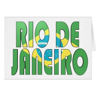 Río de Janeiro, el Brasil Felicitacion
