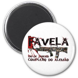 Rio de Janeiro Favela (Slum/Shanty Town) 2 Inch Round Magnet