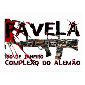 Río de Janeiro Favela (tugurios/ciudad de chabola) Tarjeta Postal