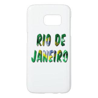 Rio de Janeiro Flag Word Samsung Galaxy S7 Case