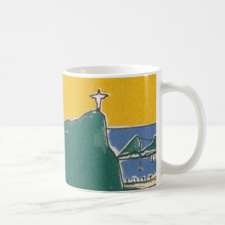 Rio De Janeiro green and yellow Classic White Coffee Mug