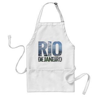 Rio de Janeiro - Guanabara Bay Block Text Apron