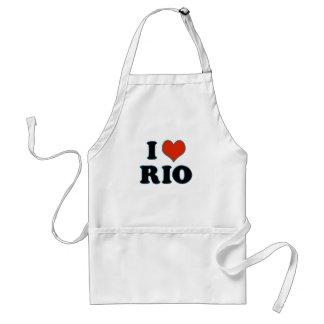 rio de janeiro - I love Rio Adult Apron