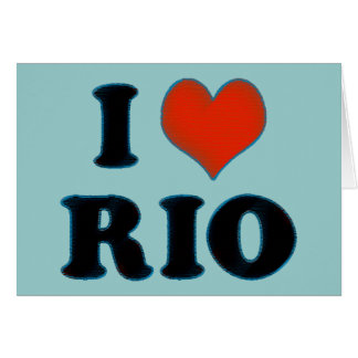 rio de janeiro - I love Rio Greeting Card