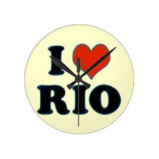 rio de janeiro - I love Rio Wallclock