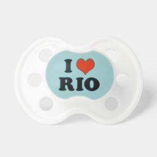 rio de janeiro - I love Rio Baby Pacifier
