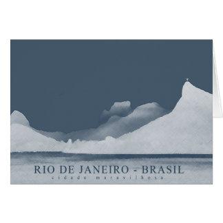 rio de janeiro landscape greeting card