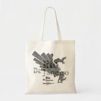 Rio De Janeiro Map Bag