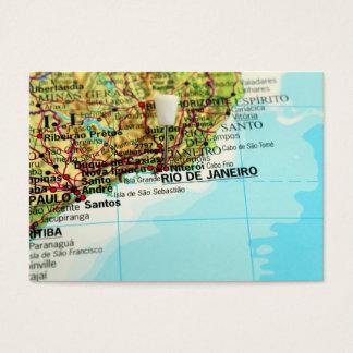 Rio de Janeiro Map Business Card