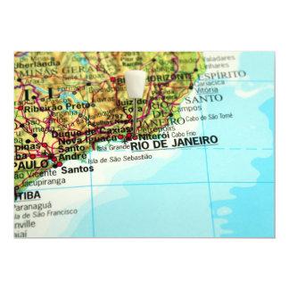 Rio de Janeiro Map Card