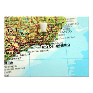 Rio de Janeiro Map Personalized Invite