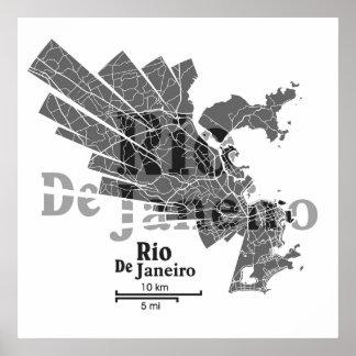 Rio De Janeiro Map Poster