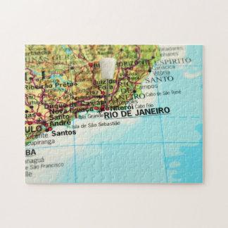 Rio de Janeiro Map Puzzle