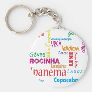 Rio de Janeiro Neighbourhoods Keychains