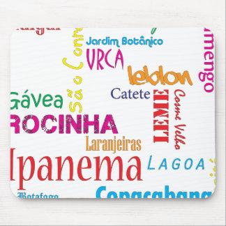 Rio de Janeiro Neighbourhoods Mouse Pad