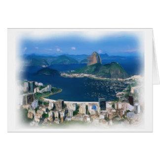 Rio de Janeiro Paiting Greeting Card