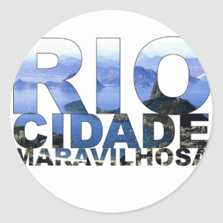 Río de Janeiro Pegatina Redonda