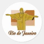 Rio de Janeiro Round Stickers