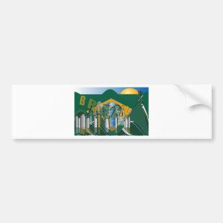 Rio de Janeiro skyline Bumper Sticker