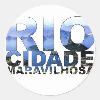 Rio de Janeiro Round Sticker