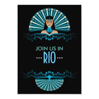 Rio de Janeiro themed Party personalized Card
