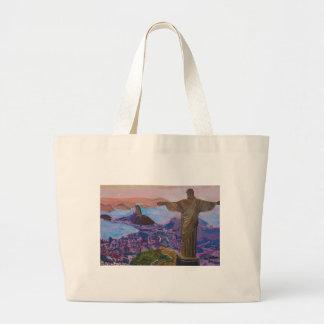 Rio De Janeiro With Christ The Redeemer Jumbo Tote Bag