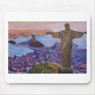Rio De Janeiro With Christ The Redeemer Mouse Pad