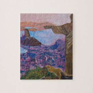 Rio De Janeiro With Christ The Redeemer Jigsaw Puzzles