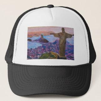 Rio De Janeiro With Christ The Redeemer Trucker Hat