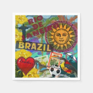 Rio de Janiero Brazil Paper Napkin