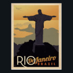 "Rio De Janiero, Brazil Postcard<br><div class=""desc"">Anderson Design Group is an award-winning illustration and design firm in Nashville,  Tennessee. Founder Joel Anderson directs a team of talented artists to create original poster art that looks like classic vintage advertising prints from the 1920s to the 1960s.</div>"