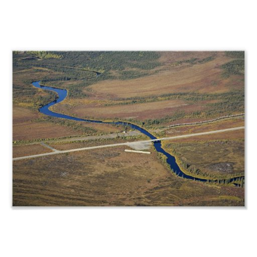 Río de Kanuti, carretera de Dalton, y pipa del tra Impresiones