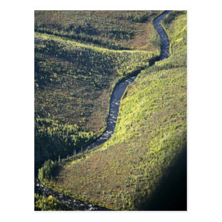 Río de Kanuti y campo del canto rodado Postales