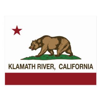 Río de Klamath de la bandera de la república de Tarjetas Postales