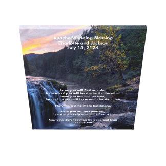 Río de la bendición del boda de Apache Impresión En Lienzo