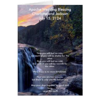 Río de la bendición del boda de Apache Tarjeta De Felicitación