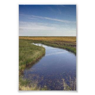 Río de la bobina por la costa arte fotografico