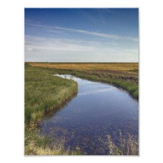 Río de la bobina por la costa fotografía