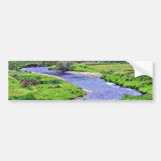 Río de la cañada en Irlanda Pegatina De Parachoque