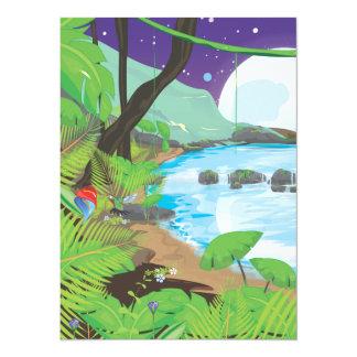 """Río de la selva tropical invitación 5.5"""" x 7.5"""""""