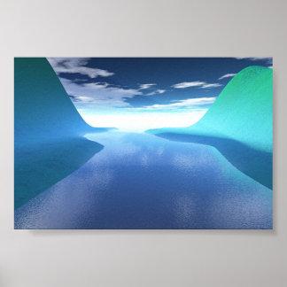 Río de la vida póster
