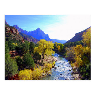 Río de la Virgen, Zion, Utah, postal