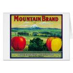 Río de LabelHood del cajón de Apple de la montaña, Tarjeta De Felicitación