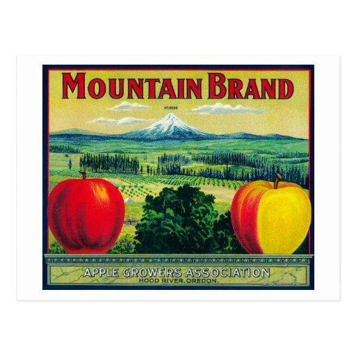 Río de LabelHood del cajón de Apple de la montaña, Postales