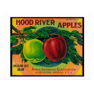 Río de LabelHood del cajón de Hood River Apple, O Tarjetas Postales