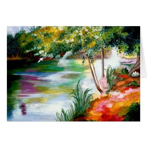 Río de las tarjetas de felicitación del color