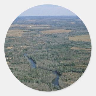 Río de Madawaska, fauna nacional Refug de Pegatina Redonda