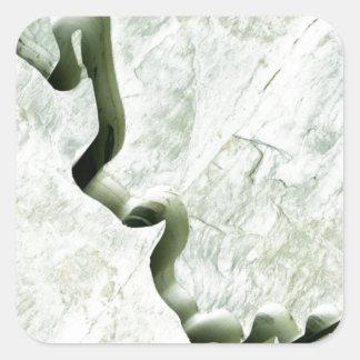 Río de mármol pegatina cuadrada